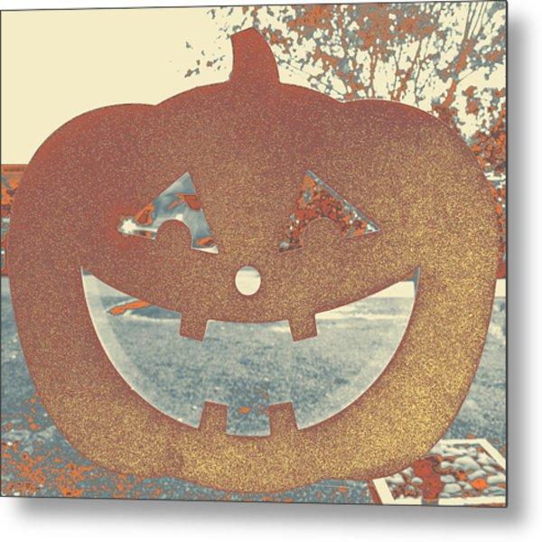 Window Pumpkin #1 Metal Print