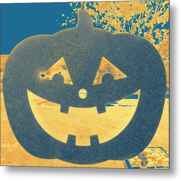 Window Pumpkin #2 Metal Print