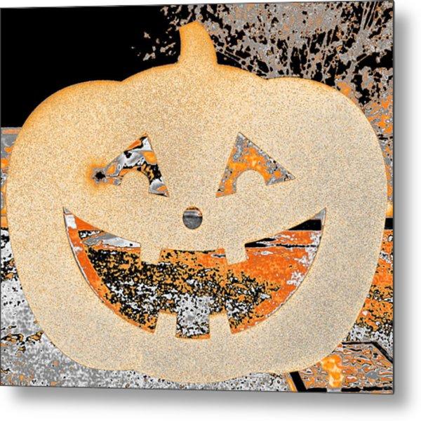 Window Pumpkin #3 Metal Print