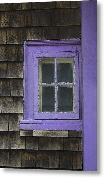 Purple Window - Window Series 04 Metal Print