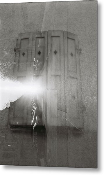 Window Street Metal Print