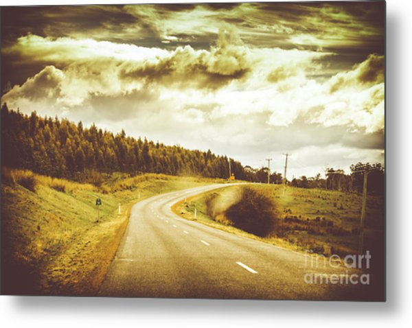 Window To A Rural Road Metal Print