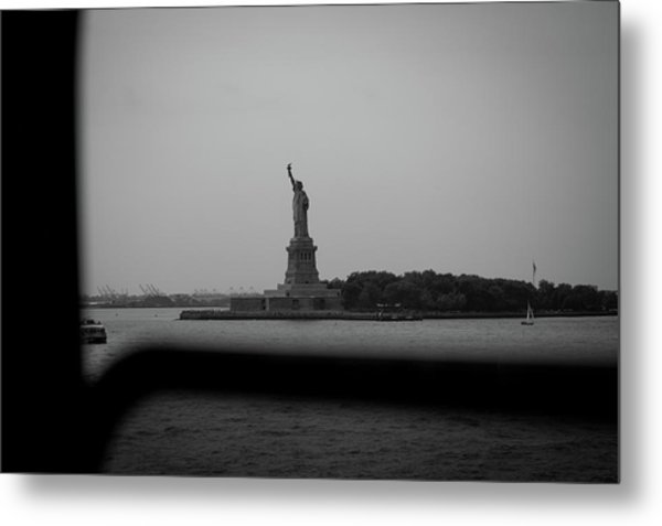 Metal Print featuring the photograph Window To Liberty by David Sutton