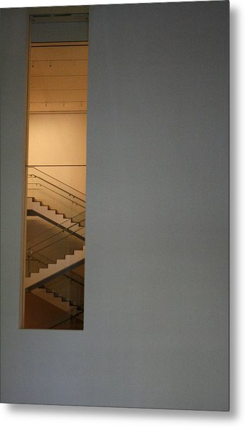Window To Stairs Metal Print by Jeff Porter