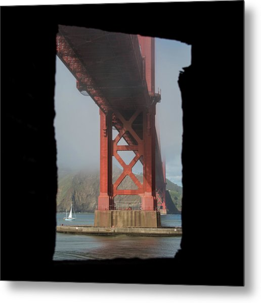 Metal Print featuring the photograph window to the Golden Gate Bridge by Stephen Holst