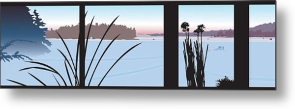 Window View Metal Print by Marian Federspiel