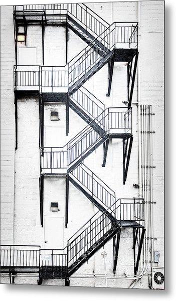 Windows And Stairs II Metal Print