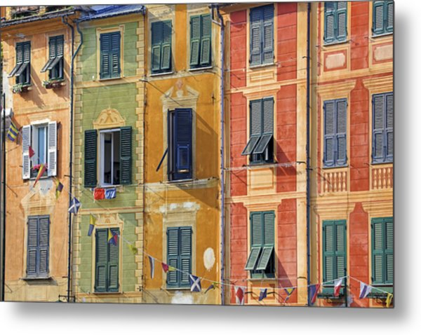Windows Of Portofino Metal Print