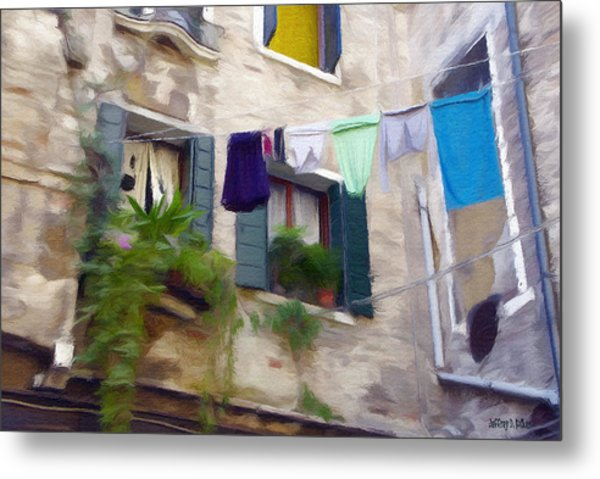 Windows Of Venice Metal Print