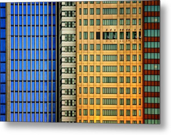 Windows On The City Metal Print