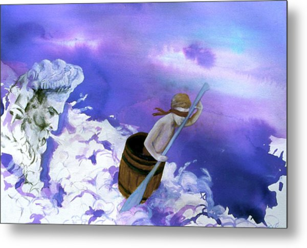 Metal Print featuring the painting Winds Of Fate  by Rene Capone