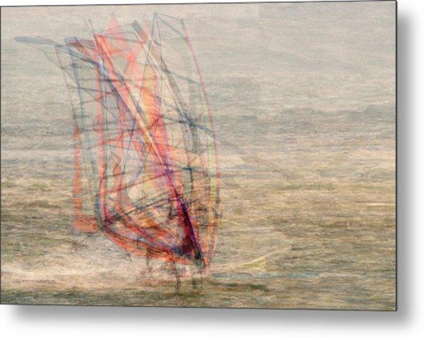 Windsurfers Metal Print by Denis Bouchard
