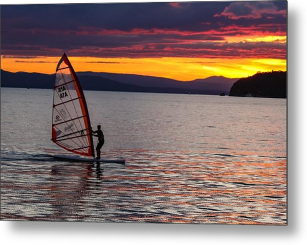 Windsurfing Lake Champlain Metal Print