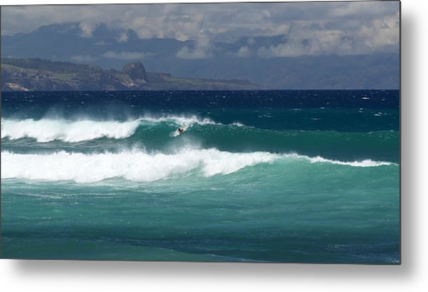 Metal Print featuring the photograph Windswept Ho'okipa by Susan Rissi Tregoning