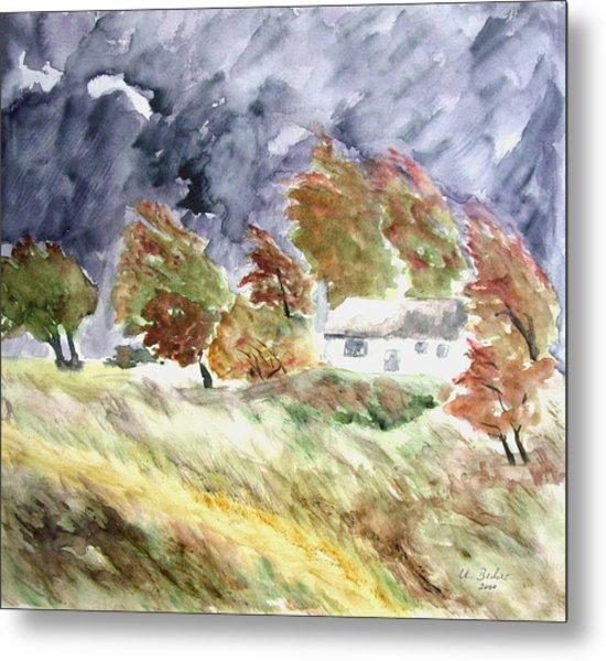 Windswept Landscape Metal Print