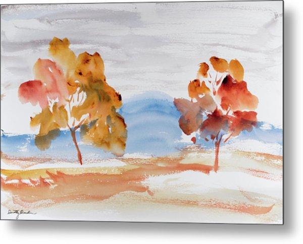 Windy Autumn Colours  Metal Print