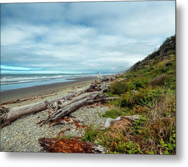 Windy Beach In Oregon Metal Print