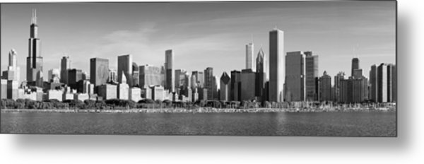 Windy City Morning Metal Print by Donald Schwartz