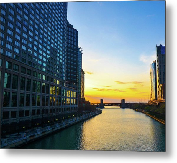 Windy City Sunrise Metal Print