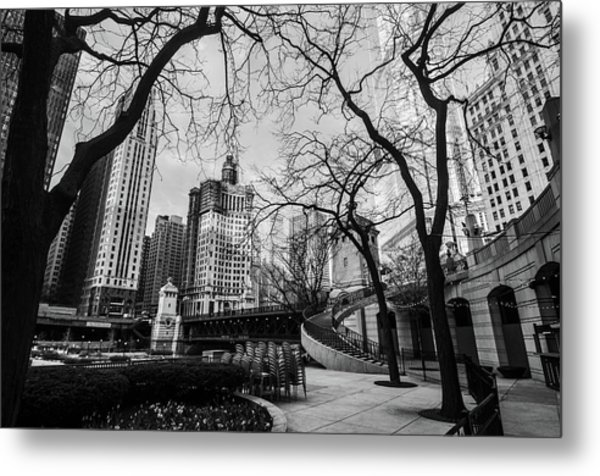 Windy Mornings In The Chi  Metal Print
