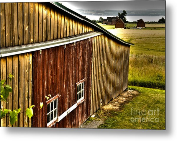 Wine Barn Metal Print