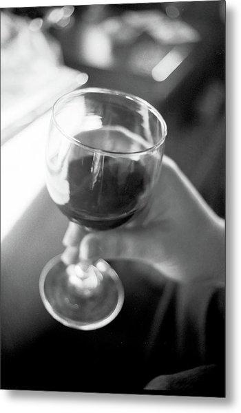 Wine In Hand Metal Print