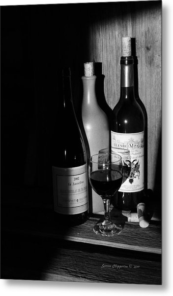 Wine Sampling Metal Print