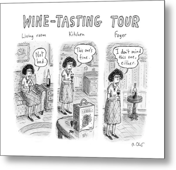 Wine-tasting Tour Metal Print