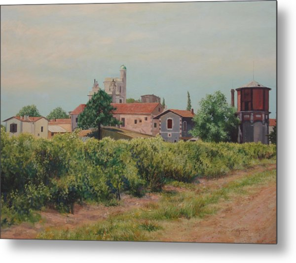 Winery In Provence Metal Print