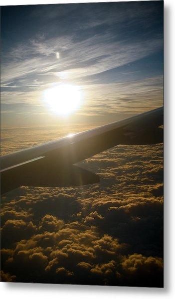 Winged Sun Metal Print by Larry Underwood