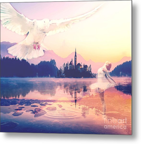 Wings Of Grace Metal Print
