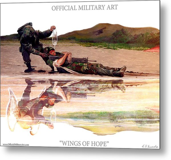 Wings Of Hope Design For T Shirts Metal Print