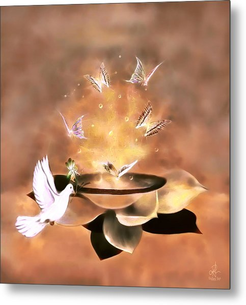 Wings Of Magic Metal Print