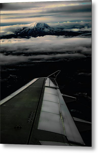 Wings Over Rainier Metal Print