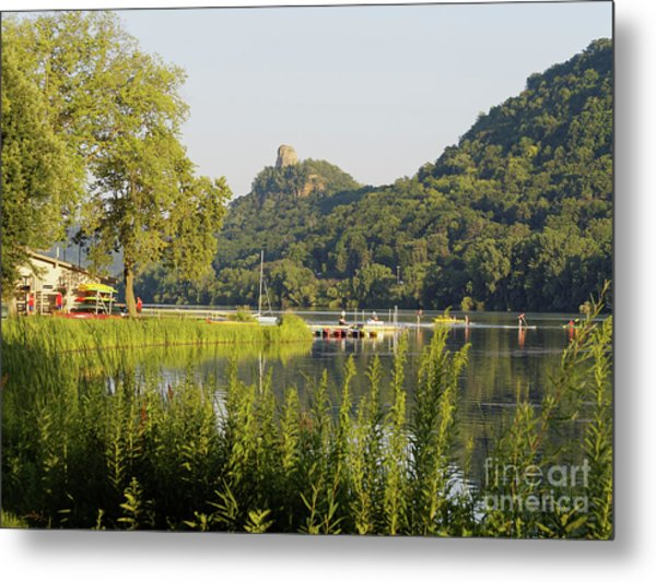Metal Print featuring the photograph Winona Mn Photo Summer Evening With Sugarloaf by Kari Yearous