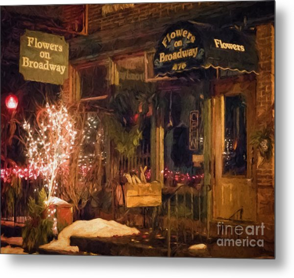 Metal Print featuring the photograph Winona Mn Storefront Historic Flower Shop by Kari Yearous
