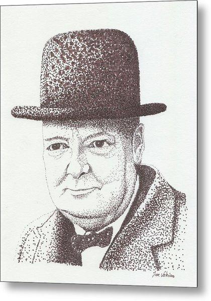 Winston Churchill Metal Print