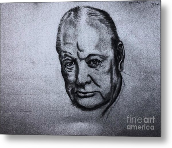 Winston Churchill  Metal Print