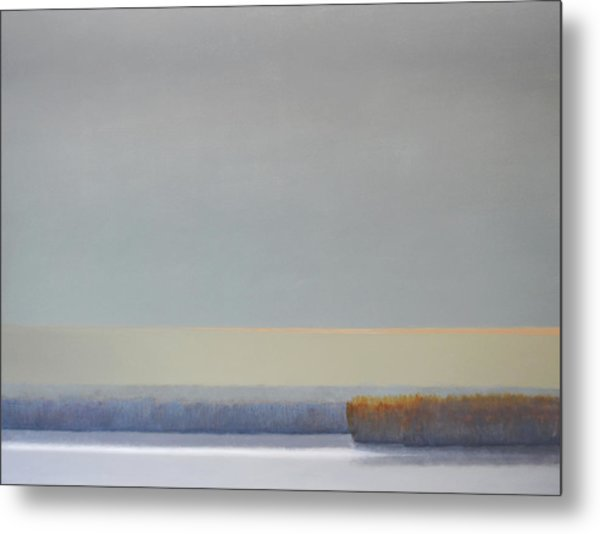 Winter Afternoon White Rock Metal Print