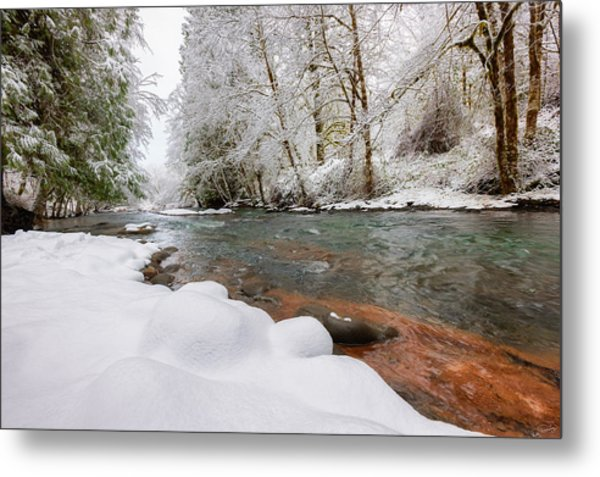 Winter Along Scoggins Creek  Metal Print
