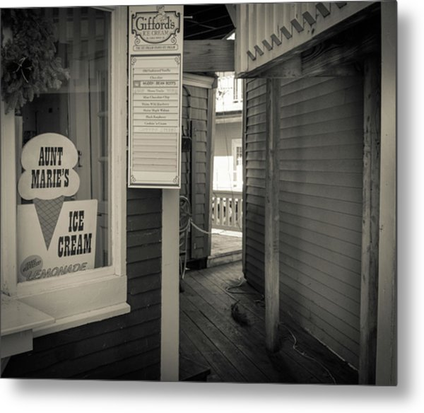 Winter At Aunt Marie's Ice Cream Stand Metal Print