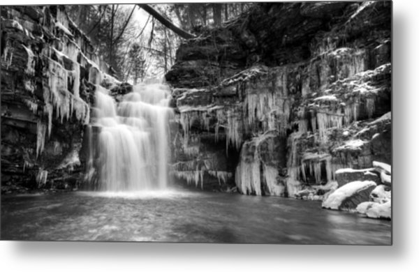 Winter At Big Falls  Metal Print