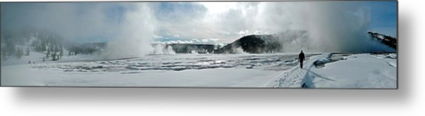 Winter At Grand Prismatic Metal Print
