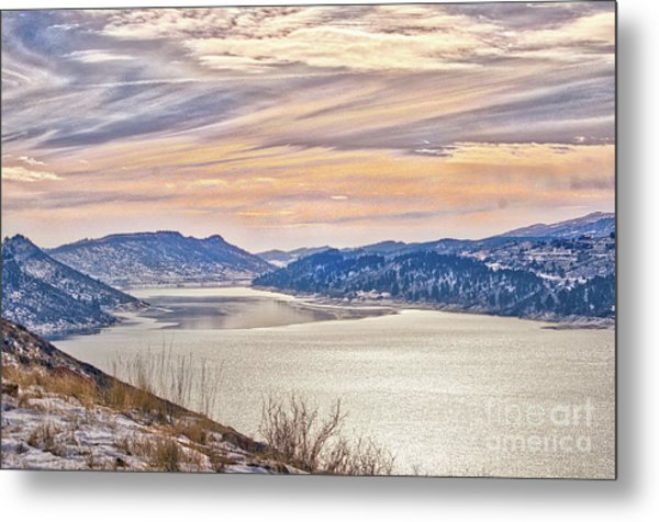 Winter At Horsetooth Reservior Metal Print