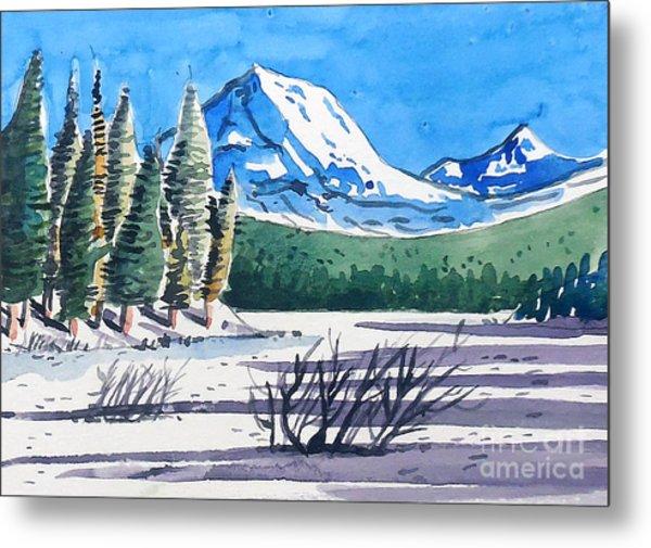 Winter At Mt. Lassen Metal Print