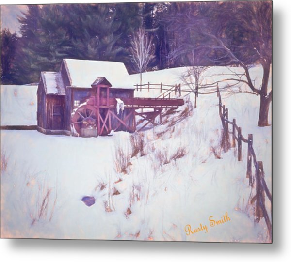Winter At The Gristmill. Metal Print