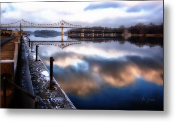Winter At The Levee Metal Print