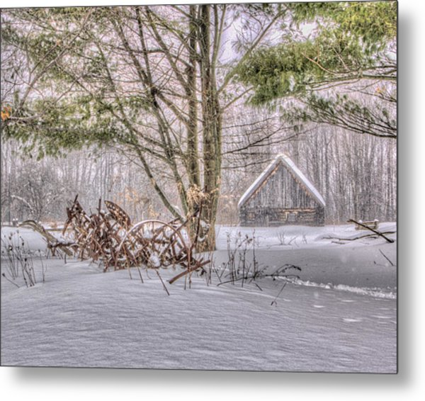 Winter At The Woods Metal Print