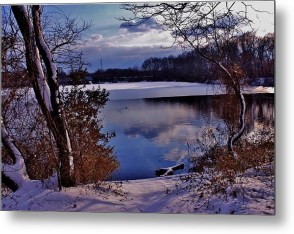 Winter At Twin Lakes Metal Print