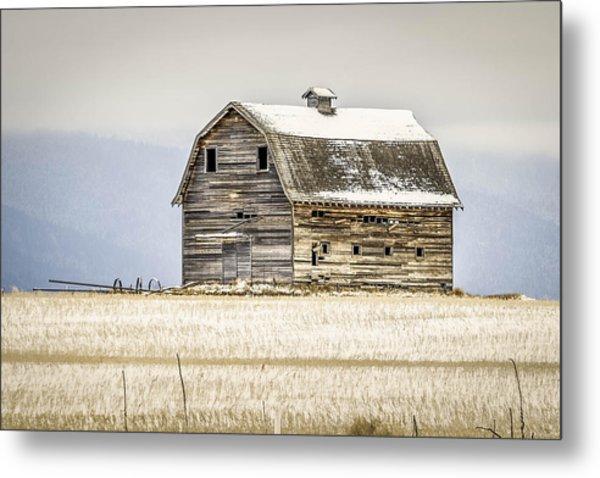 Winter Barn Metal Print by Bryan Moore